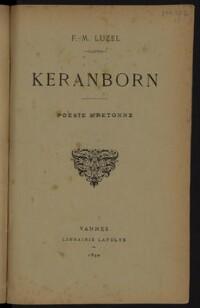 Keranborn : poésie bretonne / F.-M. Luzel | Luzel, François-Marie