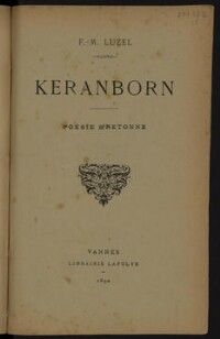 Keranborn : poésie bretonne / F.-M. Luzel