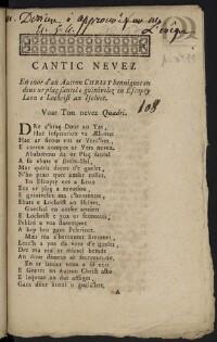 Cantic nevez en enor d'an Autrou Christ benniguet en deus ur plaç santel e guinivelez en Escopty Leon e Lochrist an Iselvet |