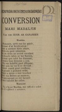 Conversion Mari-Madalen : Var ton Guer ar gananeen |