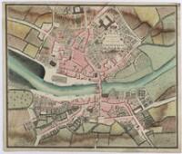 Plan de la ville, du port et des faubourgs de Landerneau