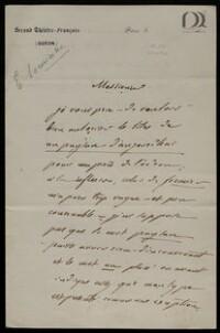 Ensemble de lettres d'Emile Souvestre : lettres à des éditeurs, à des directeurs de théâtre entre 1837 et 1853 / Emile Souvestre
