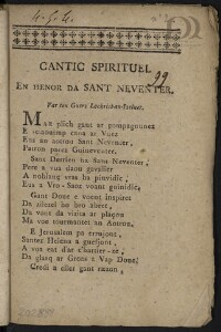 Cantic spirituel en henor da Sant Neventer [suivi de] Cantic ar garnel : Var ton ar Miserere mei e brezonnec |