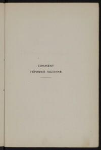 Comment j'épousai Suzanne : Confession d'amour d'un jeune paysan de Langolen / Frédéric Le Guyader   Le Guyader, Frédéric